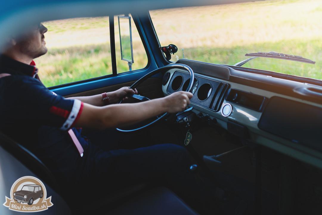 Retro interiér VW Transportera
